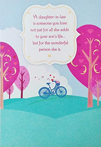 Happy Birthday Daughter-in-Law Greeting Card - You Fit So Easily Into Our Lives and Into Our Hearts
