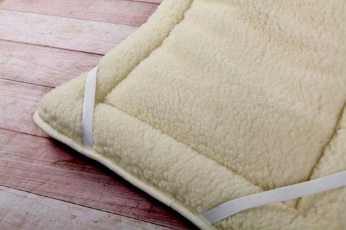 Wolle Unterbett 180x200cm Merino PERUGIANO Schurwolle Wolle 450g/m² Matratzenauflage Bettauflage Schonbezug 180x200cm. Mit Gummizügen für perfekten Sitz