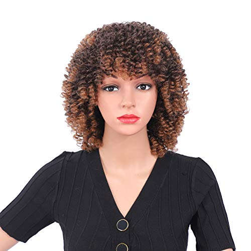 12Inches Afro Kinky Curly Wig Synth…