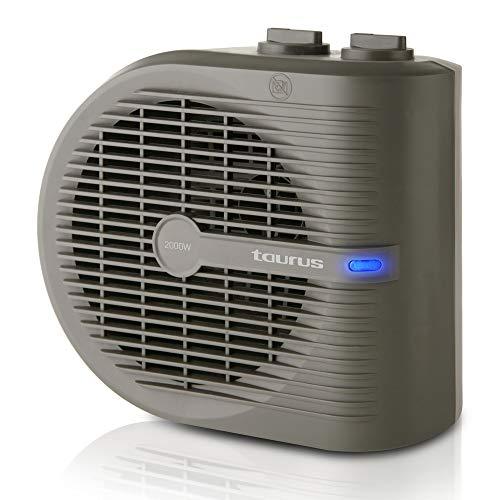 Taurus Tropicano 2.5 - Calefactor, termoventilador, 2 posiciones de calor + función ventilador, 2000 W, termostato regulable, asa de transporte, compacto, silencioso