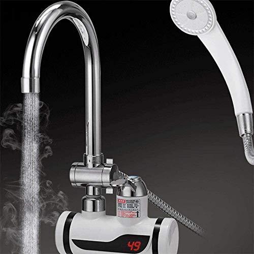 UOMUN Hogar eléctrico de Agua Caliente Faucet de calefacción instantánea de calefacción de la Cocina Ducha del Tesoro con Agua del Grifo Calentador de Agua eléctrica Caliente