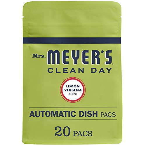 Mrs. Meyer's Clean Day Automatic Dishwasher Pods, Cruelty Free Formula Dish Soap Tablets, Lemon Verbena Scent, 20 Count