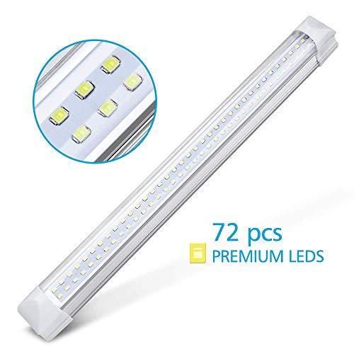 MICTUNING Car Camper Bar,12-80V 3.5W 72 LED Interior Led Light,Kitchen Bathroom Bedroom LEDs Lamp Caravan Light with On/Off Switch (2 Pcs)