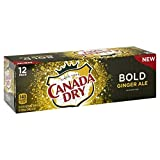 Canada Dry BOLD Ginger Ale Caffeine-Free Soda Beverage Cans - 12 Pck (12 oz)