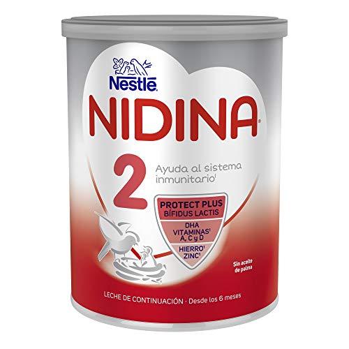 Nestlé Nidina 2 Leche de Continuación en Polvo, Fórmula para Bebés, A Partir de Los 6 Meses, 800g