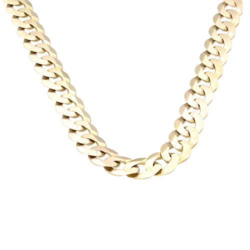 Jollys Jewellers - Cadena para hombre, oro amarillo de 9 quilates (6 mm de ancho)