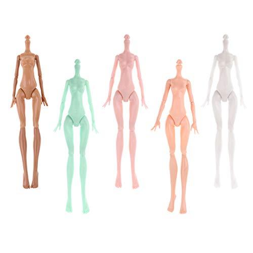 5 Piezas Juegos Bricolaje Articulada Muñeca Desnuda Altas Monstruos Cuerpo sin Pintar