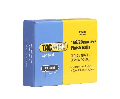 Tacwise 0665 Clous de Finition 16G/20 mm, Boîte de 2.500