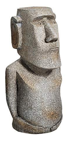Reproduction Statue Moai Ile De Paques Coloris Gris Pierre 17/8/6 cm