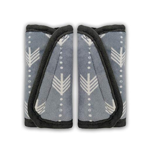Car Seat Strap Pads Covers for Baby Kids, Seat Belt Covers Cushion for boy Girl, Protect Neck and Shoulder rubbing, Anti-Slip Design, Universal for Stroller/Carrier/Pushchair; 2 pcs, Seaweed Pattern
