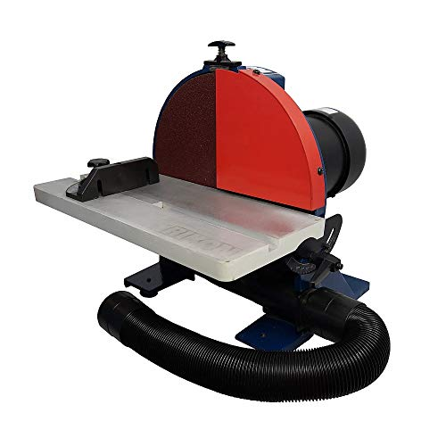 RIKON 51-202 12 Inch 1.25 HP Cast Iron Benchtop Disc Sander with 60 Grit Disc