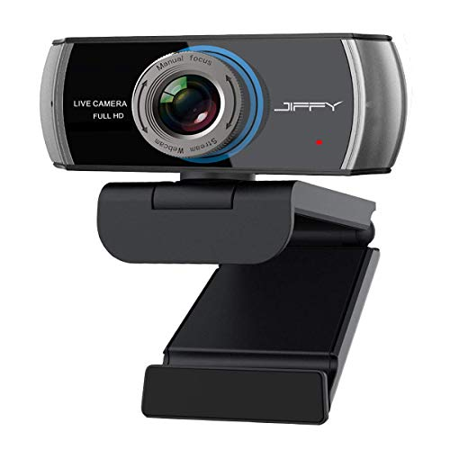 1080P Streaming Webcam with Microphone. JIFFY Usb Computer Web Camera Support Xbox, Skype, Youtube, Twitch and TV Zoom. Wide-Angle Face Cam for Desktop PC Laptop Macbook. Gaming cam for Video Chatting and Recording.