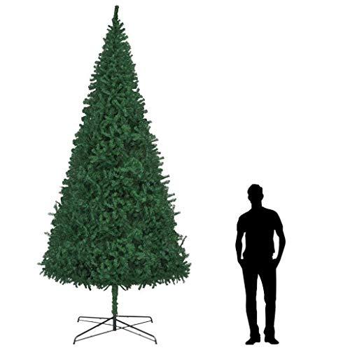 albero di natale 400 vidaXL Albero di Natale Artificiale con Base Folto Realistico 3670 Rami Abete Uso Esterno Decorazione Natalizia in PVC 400 cm Verde