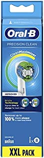 Oral-B Genuine Precision Clean Replacement White Toothbrush Heads, Refills for Electric Toothbrush, Deep and Precise Clean...