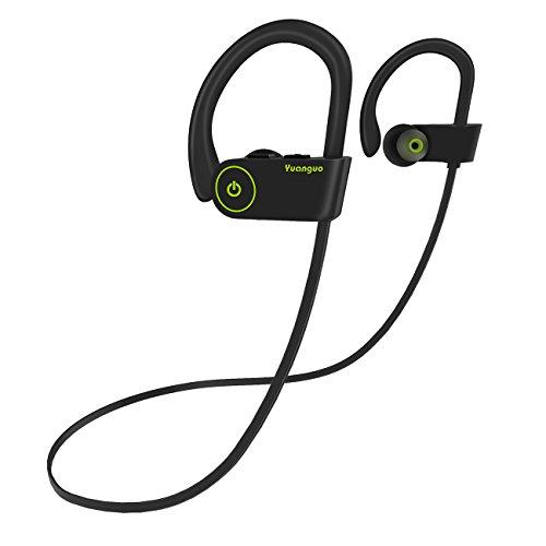 Arbily Auricolari Bluetooth Auricolari Senza Fili Cuffie Bluetooth 4.1 Sportive IPX7 Impermeabile CVC 6.0 con Microfono 240 Ore Scatola Ricarica per iPhone Android Nero