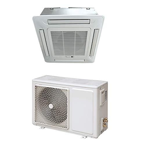 18000 BTU 16kW Compact DC Inverter Round Flow Ceiling Cassette Air Conditioner - 4-Way Round Flow Air Conditioning Unit with Heat Pump