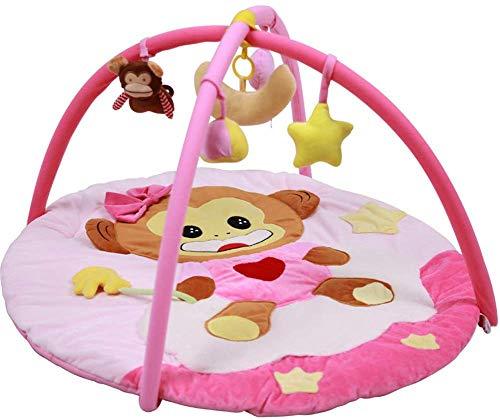 SCLL Jouer à l'arc pour Les bébés Jouer Tapis Suspendu Jouet avec Musique Lavable Cadeau en Tissu Super Doux pour Les garçons et Les Filles Nouveau-nés, 0-12 Mois, Stable, Rose, Rose