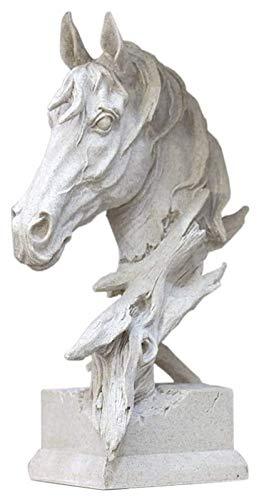 GAOYINMEI Rzeźba biurkowa statuetka dekoracyjny statuetka konia, głowa konia rzeźba koń biust model dom okno biurko regał ekspozycja dekoracyjna piaskowiec zwierzę biżuteria