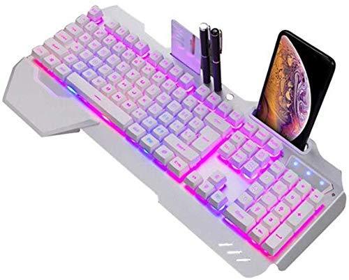 XIUYU Esports Tastatur - Mechanische Tastatur RGB-LED-Hintergrundbeleuchtung Plug & Play-Weiß/Schwarz Spiel-Tastatur Ergonomisches Design wasserdichte Gaming Keyboard