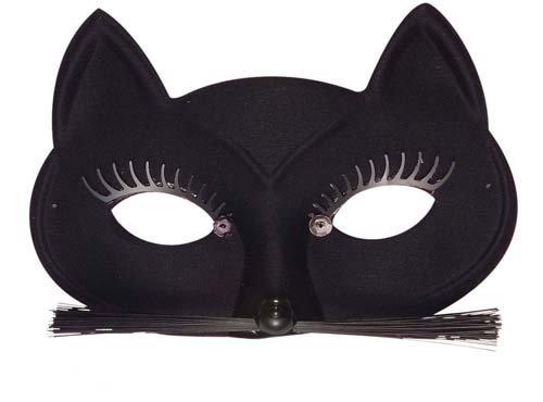 Ladies Black Cat Eye Mask Eyemask Cat Woman Catwoman Halloween Fancy Dress by Home & Leisure Online