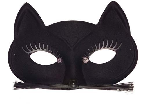 Ladies Black Cat Eye Mask Eyemask Cat Woman Catwoman Halloween Fancy Dress by Home & Leisure Online