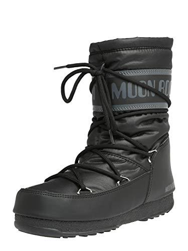 Moon Boot Herren Mid Nylon Wp Schneestiefel, Schwarz (Nero 001), 39 EU