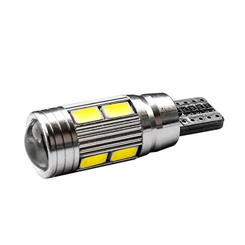 BTXX Interior del Auto Día del Día del Día de la Junta de Lectura T10 W5W Canbus Unmistakable 10 SMD 5630 LED Cuña Luz Aparcamiento Luz 10SMD 5730 LED (Emitting Color : White)