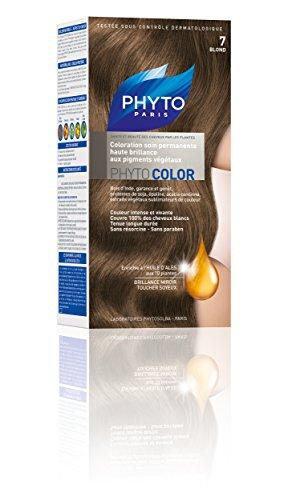 Phyto Color Coloration Soin Permanente Haute Brillance aux Pigments Végétaux - N°7 : Blond