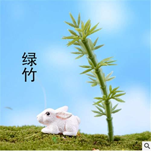 LHZUS Simulación de bambú chino rico micro paisaje artificial plantas de simulación pecera acuario encantadora decoración del hogar (color verde, tamaño: talla única)
