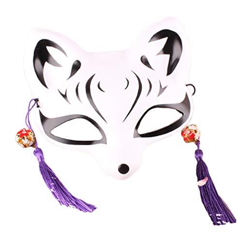 Happyyami Máscara Kitsune máscara de Zorro japonese