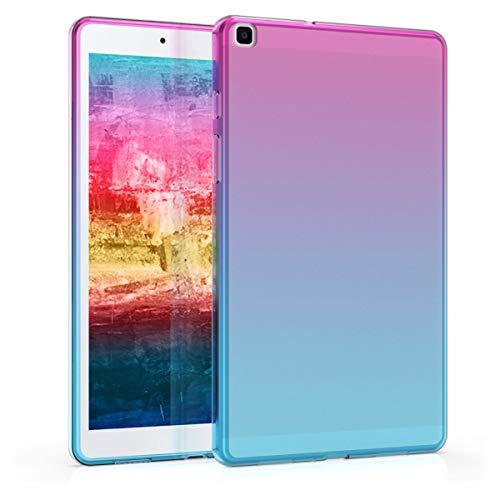 kwmobile Cover Compatibile con Samsung Galaxy Tab A 8.0 (2019) - Custodia Tablet in Silicone TPU - Copertina Protettiva Tab - Backcover - 2 Colori Fucsia/Blu/Trasparente