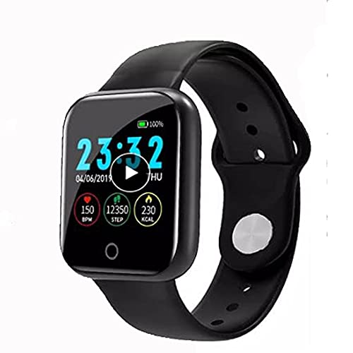 I5 Plus Smart Watch Mujeres Hombres Impermeable Deportes Bluetooth Smartwatch Full Touch Fitness Tracker Relojes Para Andriod IOS Teléfono (Rosa)
