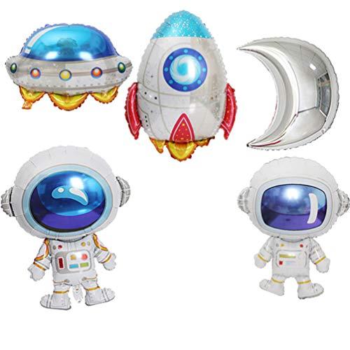 5 Piezas Fiesta Espacial Globos Galaxia Astronauta Dirigible Baby Shower Fiesta Suministros Decoración