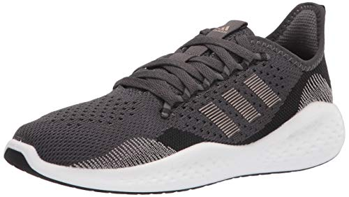 adidas Women's Fluidflow 2.0 Running Shoe, Black/Champagne Metallic/Grey, 8