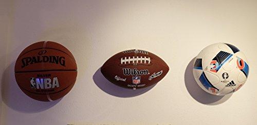 Clipboart Unsichtbare Wandhalterung für Bälle Fußball Basketball Handball Wandhalter Halterung Ball