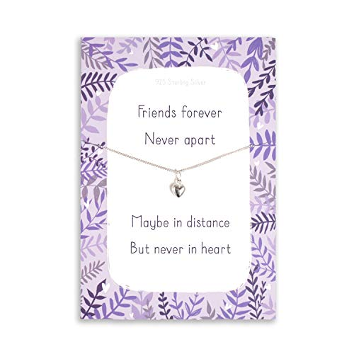 Miss you gifts | Friends forever never apart necklace for friends - daughter | love sister long distance relationship | friendship | mum family presents | keep in touch | couples girlfriend hug