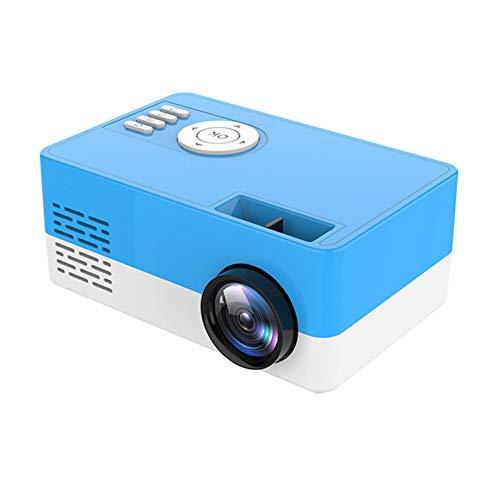 Avalita Videoproiettore portatile HD 1080p Videoproiettore integrato per computer portatile desktop, computer, casa per video TV, film, giochi, intrattenimento all'aperto, Blu, AU