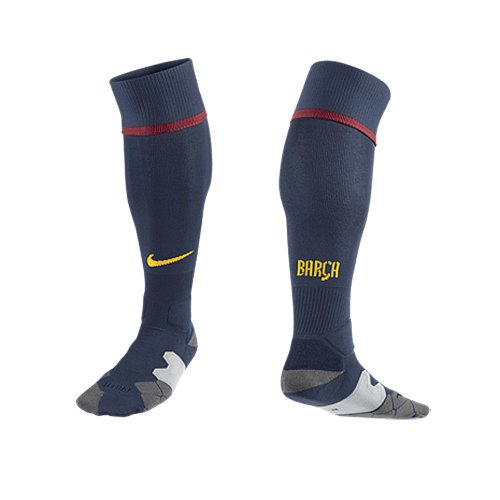 NIKE Medias FC Barcelona Home Away, Unisex, Color Azul - Midnight Navy/stormred/Tour Yellow, tamaño M