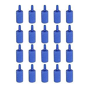 Saim Mineral Bubble Release Aquarium Air Stone Airstone Blue Pack of 20