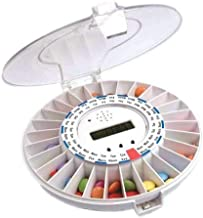 MedELert Locking Automatic Pill Dispenser with Alarm and Clear and Solid Covers - New and Improved Most Recent Released 2019 1.0PREMIUM Edition - Never Forget Your Medication Again!