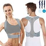 Haltungskorrektur UBRU Geradehalter zur Haltungskorrektur Rückentrainer Schulter Rückenstütze, Geradehalter Verstellbare und Schulterschmerzen für gerader Rücken für Damen Herren und Kinder -