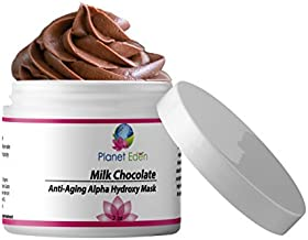 Planet Eden Organic Milk Chocolate and 15% Lactic Acid Facial SKIN Mask with Organic Botanicals to Hydrate, Detox and Exfoliate - Professional Spa Quality