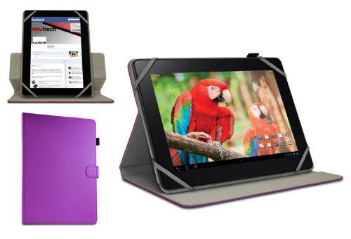 Navitech Custodia/Cover Viola in Pelle Bycast a 360 Gradi di Rotazione per Olivetti OLIPAD 3 10.1'' / Olivetti OLIPAD 110 10.1''
