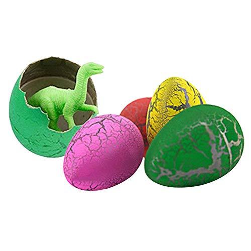 Reputedc Formato misto 12 uova da cova di dinosauro, giocattoli novità per bambini (scatola dei colori)