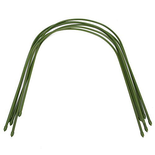 Tube en Acier plastifié à Effet de Serre Cadre 6Pcs Hoop Arch Shape Support Frame Accessoires de Jardinage (19,7 x 18,1 Pouces)