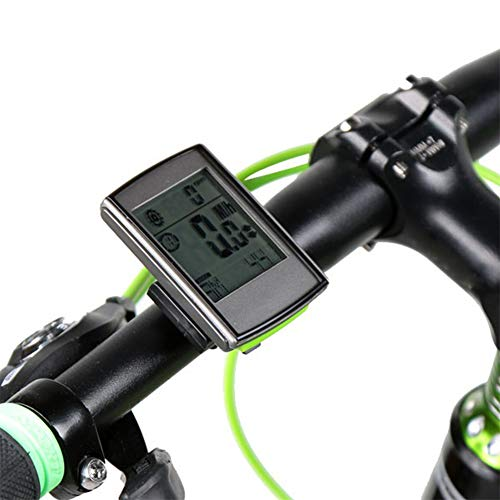 N / A Multi-Function Wireless Bike Computer, Abs Material, 2-Inch LCD Digital Screen Blue Backlight Heart Rate Detection Speed, Suitable for Beginners