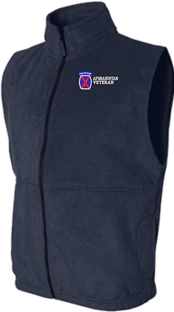10th Mountain Division Afghanistan Veteran Sierra Pacific Full Zip Fleece Vest