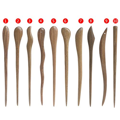 SLYlive Femmes cheveux pin classique épingles à cheveux en bois naturel bijoux bâtons Vintage ébène