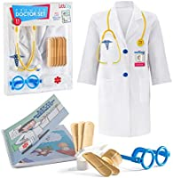 Litti City Doctor Kit for Kids - Complete Doctor/ Vet Accessories with White Doctor Coat, Stethoscope & Medical Kit -...