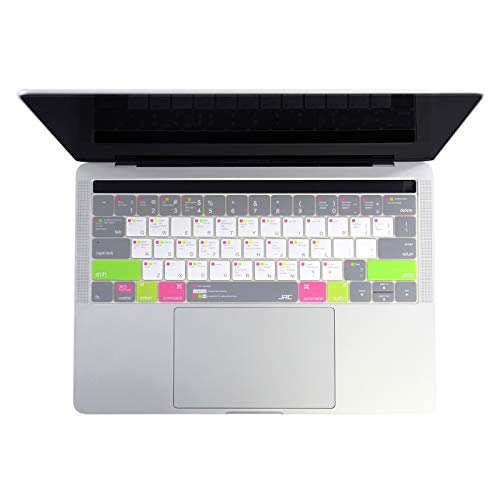 Funda de teclado de silicona ultra fina MAC OS para Apple MacBook Pro16' A2141 13' 15' A2338 A2289 A2337 superior/inferior/Palmguard-Color C-Pro13 ninguna barra A1708